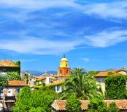 圣徒Tropez美好的横向  免版税库存照片