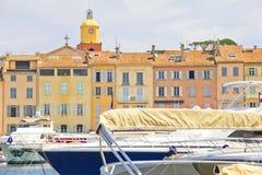 圣徒Tropez,法国端口  库存图片