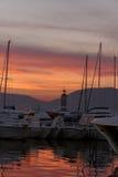 圣徒Tropez,海滨广场,法国海滨,法国 图库摄影