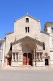 圣徒Trophime老罗马式教会在阿尔勒 免版税库存图片