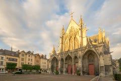 圣徒Urbain大教堂,在特鲁瓦 免版税库存照片