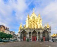 圣徒Urbain大教堂,在特鲁瓦 库存照片