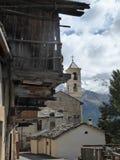 圣徒Veran老村庄,在法国阿尔卑斯 免版税库存图片