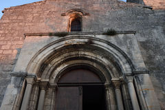 圣徒Vicent's教会列斯Baux de普罗旺斯, 图库摄影