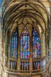 圣徒Vitus大教堂内部 图库摄影