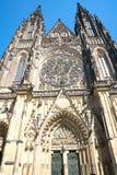 圣徒Vitus大教堂哥特式建筑在布拉格 免版税库存图片