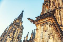 圣徒Vitus大教堂面貌古怪的人  免版税库存照片
