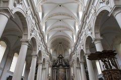 圣徒Walburga教会,布鲁日,贝尔吉克内部, 免版税图库摄影