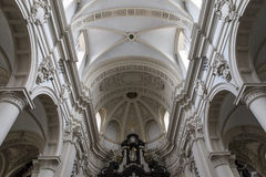 圣徒Walburga教会,布鲁日,贝尔吉克内部, 库存照片