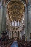 圣徒Walburga,弗尔内,比利时教会  库存照片