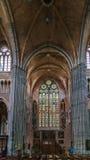 圣徒Walburga,弗尔内,比利时教会  免版税库存照片