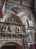 圣徒warwick的marys教会教堂内部在英国 免版税图库摄影