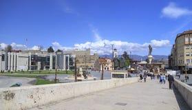 圣德米特里,斯科普里, Mac教会在腓力二世广场的 免版税库存图片