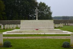圣所木公墓, WWi,伊珀尔 免版税库存照片