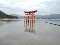 圣所Itsukushima在宫岛海岛,日本 库存照片