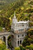 圣所Las Lajas在哥伦比亚 免版税库存图片