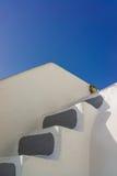 圣托里尼传统风格楼梯  免版税库存图片