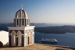 圣托里尼巡航 免版税库存图片