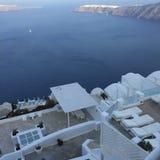 圣托里尼浪漫海岛希腊 免版税库存图片