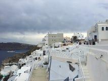 圣托里尼浪漫海岛希腊 图库摄影