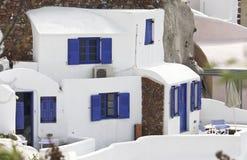 圣托里尼海岛在希腊 免版税图库摄影