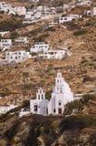 圣托里尼海岛旅行目的地和风景 免版税图库摄影