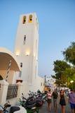 圣托里尼海岛晚上 免版税库存照片