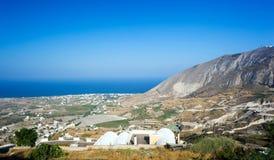 从圣托里尼海岛的风景 免版税库存照片