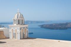 圣托里尼海岛的,希腊教会 免版税库存图片