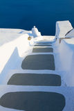 圣托里尼海岛,希腊美好的细节  免版税库存照片
