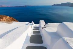 圣托里尼海岛,希腊美好的细节  免版税库存图片