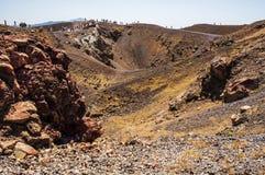 圣托里尼的火山 库存照片