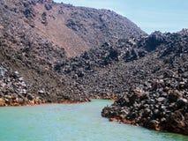 圣托里尼的硫磺群岛希腊, 库存图片