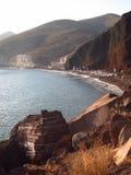 圣托里尼红色海滩 免版税库存照片