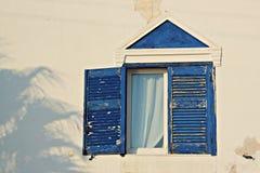 圣托里尼蓝色 库存图片