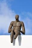 圣托里尼雕象 库存照片