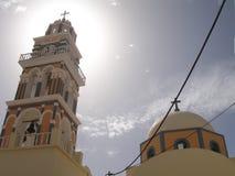 圣托里尼,一希腊的访问的海岛 图库摄影