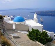 圣托里尼,一希腊的访问的海岛 免版税库存图片