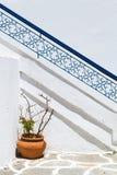 圣托里尼,希腊传统风格楼梯  库存图片