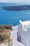 圣托里尼,希腊传统风格楼梯  图库摄影