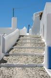 圣托里尼,希腊传统风格楼梯  库存照片
