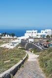 圣托里尼,希腊传统风格楼梯  免版税库存图片