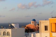 圣托里尼,希腊镇  免版税库存照片
