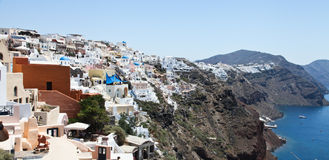 圣托里尼,希腊, 2013年7月 库存图片