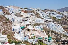 圣托里尼,希腊, 2013年7月 免版税图库摄影