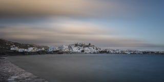 圣托里尼,希腊, Cyclade海岛 免版税图库摄影