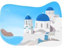 圣托里尼,希腊 图库摄影