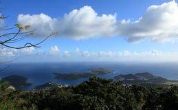 圣托马斯地平线视图  库存照片
