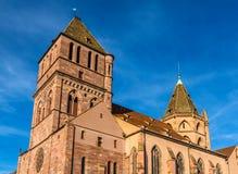 圣托马斯教会在史特拉斯堡-法国 免版税图库摄影