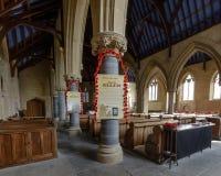 圣托马斯教会记忆天装饰A 免版税库存照片